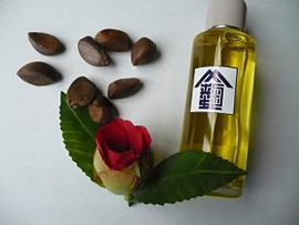 椿油と椿の種