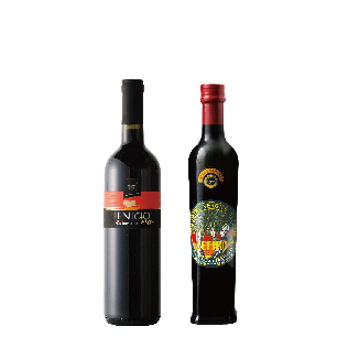 シチリア産オリーブオイルとワインのセット